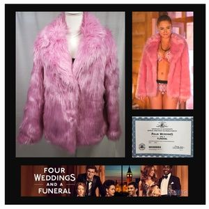 Pink Faux Fur Jacket Worn By Zara On FWAAF EUC 6